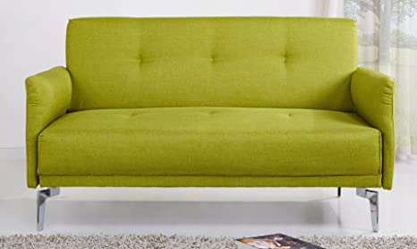 US Pride Furniture Emma Fabric Modern Loveseat, Green