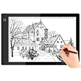 A4 Ultra-thin Portable LED Light Box Tracer USB Power Cable Dimmable Brightness LED Artcraft Tracing Light Pad for Artists Drawing Sketching Animation Stencilling X-rayViewing