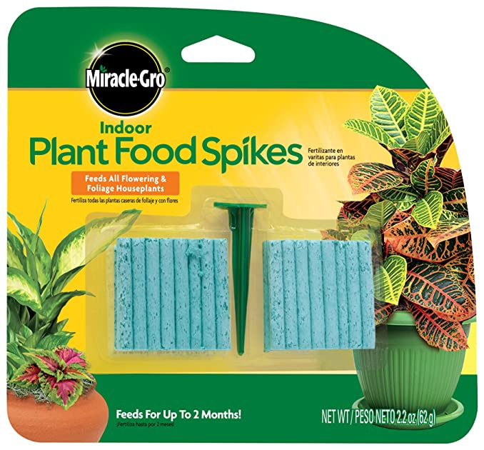 Miracle gro 300157 indoor plant food 48 spikes plant for Indoor gardening nutrients