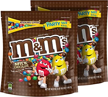 Two M&Ms Milk Chocolate Party Bags
