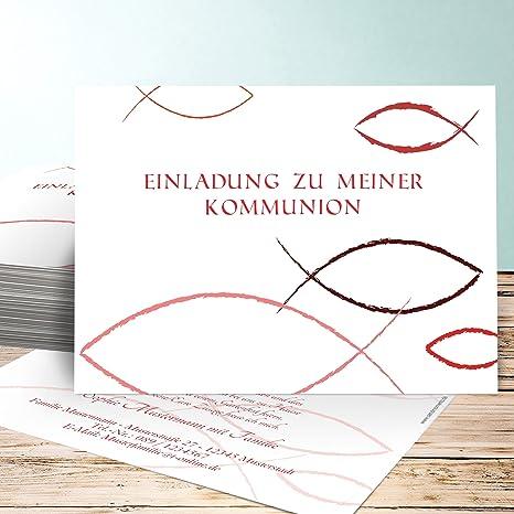 kommunion einladungskarte 5 st ck bedeutung einfach. Black Bedroom Furniture Sets. Home Design Ideas