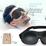 OriHea Eye Cover Sleeping Mask for Woman and Men, Patented Design 100% Blackout Sleep Mask Comfortable Eye Mask Blindfold, Black (Color: M - Size, Tamaño: Classical Ellipse)