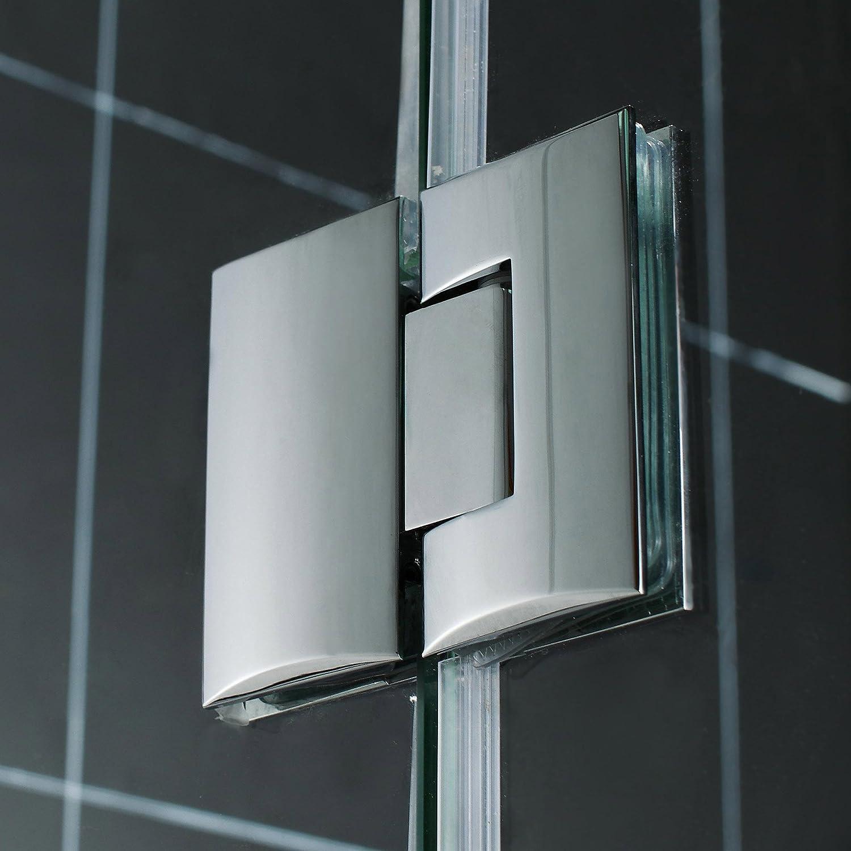 SHDR-3348588-01 Chrome Dreamline de Aqua Lux puerta de la ducha bisagras 48 - x 58 - con vidrio transparente - (con vidrio transparente)
