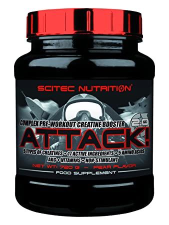 Scitec Nutrition Attack 2.0 Birne 720g pre-workout Creatin-Booster top-energy24 Sezialangebot