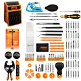 Jakemy Screwdriver Set, 99 in 1 with 50 Magnetic Precision Driver Bits, Repair Tool kit with Pocket Tool Bag for iPhone 8 / Plus, Computer, Macbook, Cell Phone, PC, Laptop, Tablet, Game Console (Tamaño: 99 in 1)