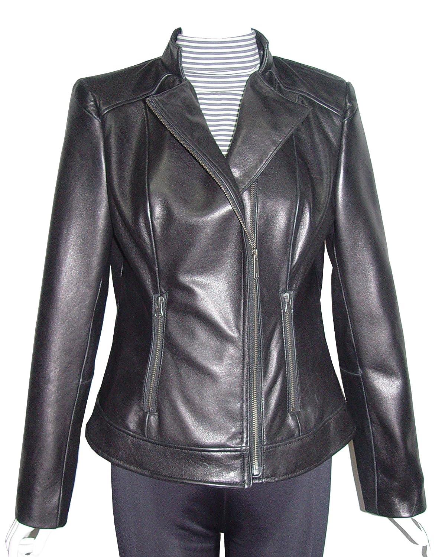 Nettailor GRATIS SchneidereiWoHerren 4064 Leder Moto Jackestehen Kragen online kaufen