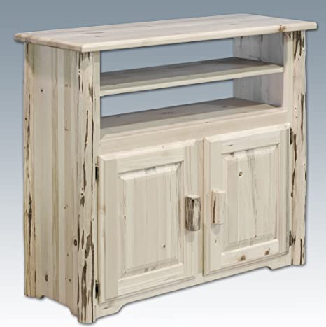 Montana Woodworks Collection Media Center, Clear Lacquer Finish