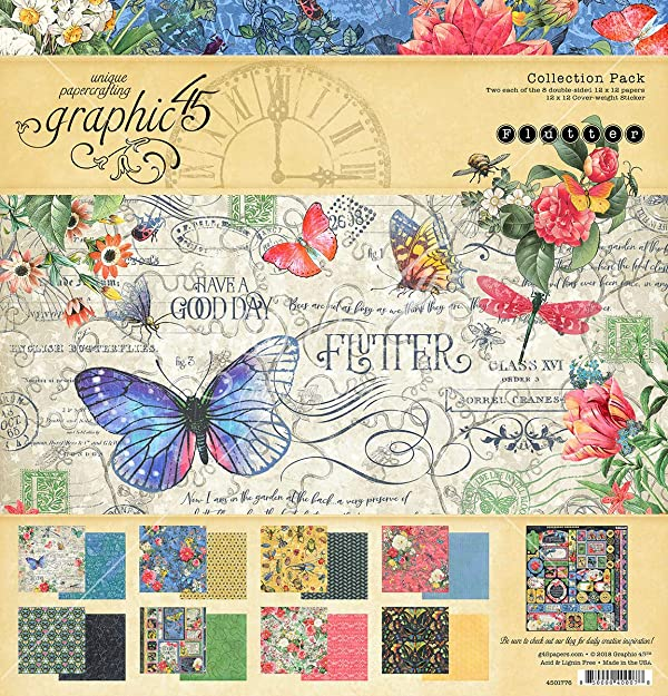 Graphic 45 4501776 Fltr Collection Pack 12x12, None (Color: None)