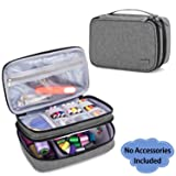Luxja Sewing Accessories Organizer, Double-Layer Sewing Supplies Organizer for Needles, Scissors, Measuring Tape, Thread and Other Sewing Tools (NO Accessories Included), Medium/Gray (Color: Gray, Tamaño: Medium)
