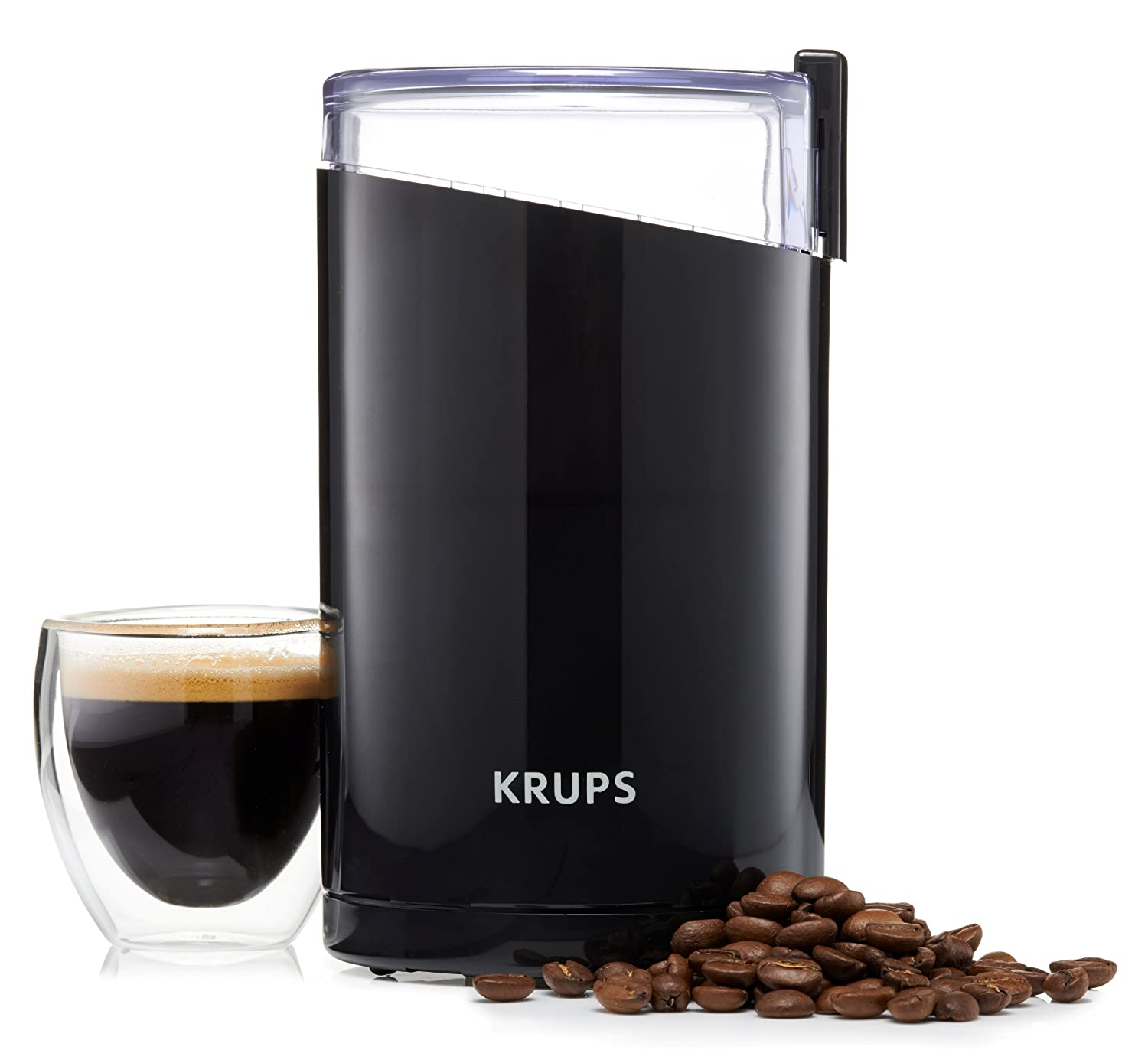 The Krups Twin Coffee Mill is an excellent coffee bean grinder and will cost you less than £25.