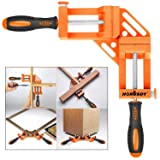 HORUSDY Quick-Jaw Right Angle 90 Degree Corner Clamp for Welding, Wood-working, Photo Framing - Best Unique Tool Gift for Men (Color: Orange)
