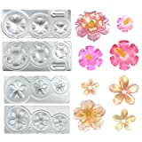 Funshowcase Tropical Flowers Resin Epoxy Silicone Molds 2-in-Set All-Purpose (Color: Tropical Flowers 2-in-set)