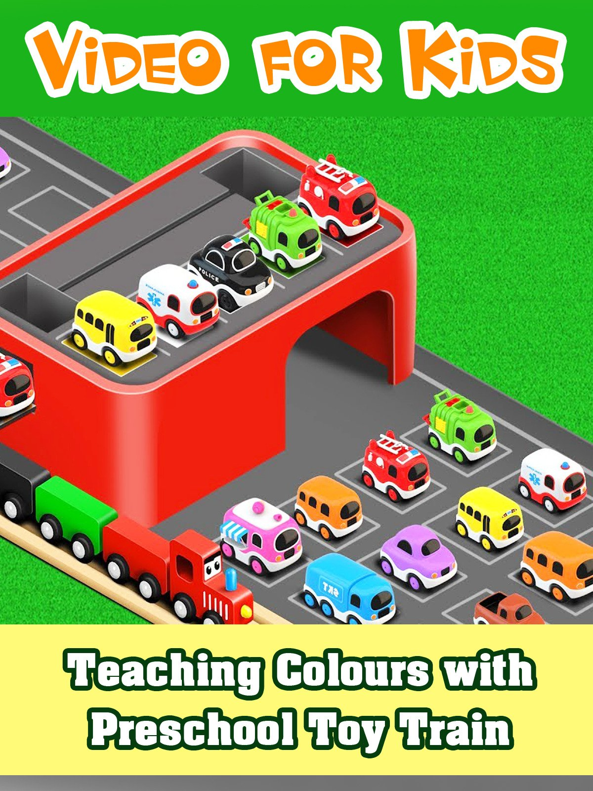 Teaching Colours with Preschool Toy Train