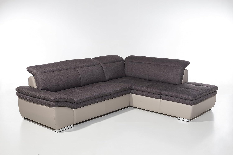 Cotta C785666 C312 D213 Frisco Polsterecke Stoff, braun, 275 x 225 x 83 cm
