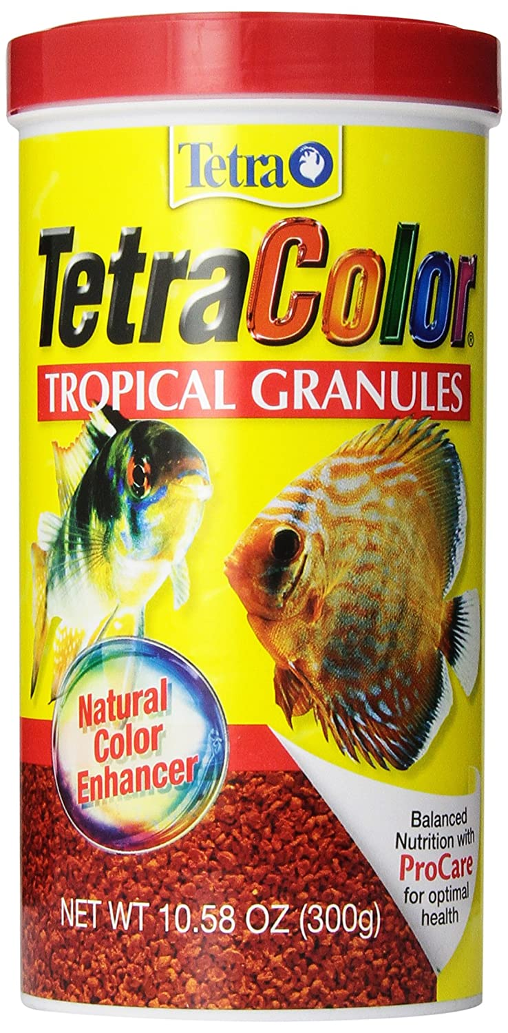 Amazon.com : Tetra 16262 TetraColor Tropical Granules, 10.58-Ounce, 1-Liter : Pet Food