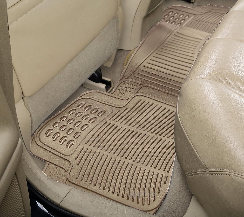 Zone Tech Set Of 3 Piece Car Beige Floor Mats Universal
