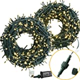 COSFLY Outdoor Christmas String Lights 209 ft 600 LEDs, Warm White Light (Color: white, Tamaño: 209 Feet)
