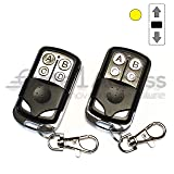 Gate1Access Compatible 891LM 893lm Remote Control Yellow Learn Button 4 Button Liftmaster 2 Pack