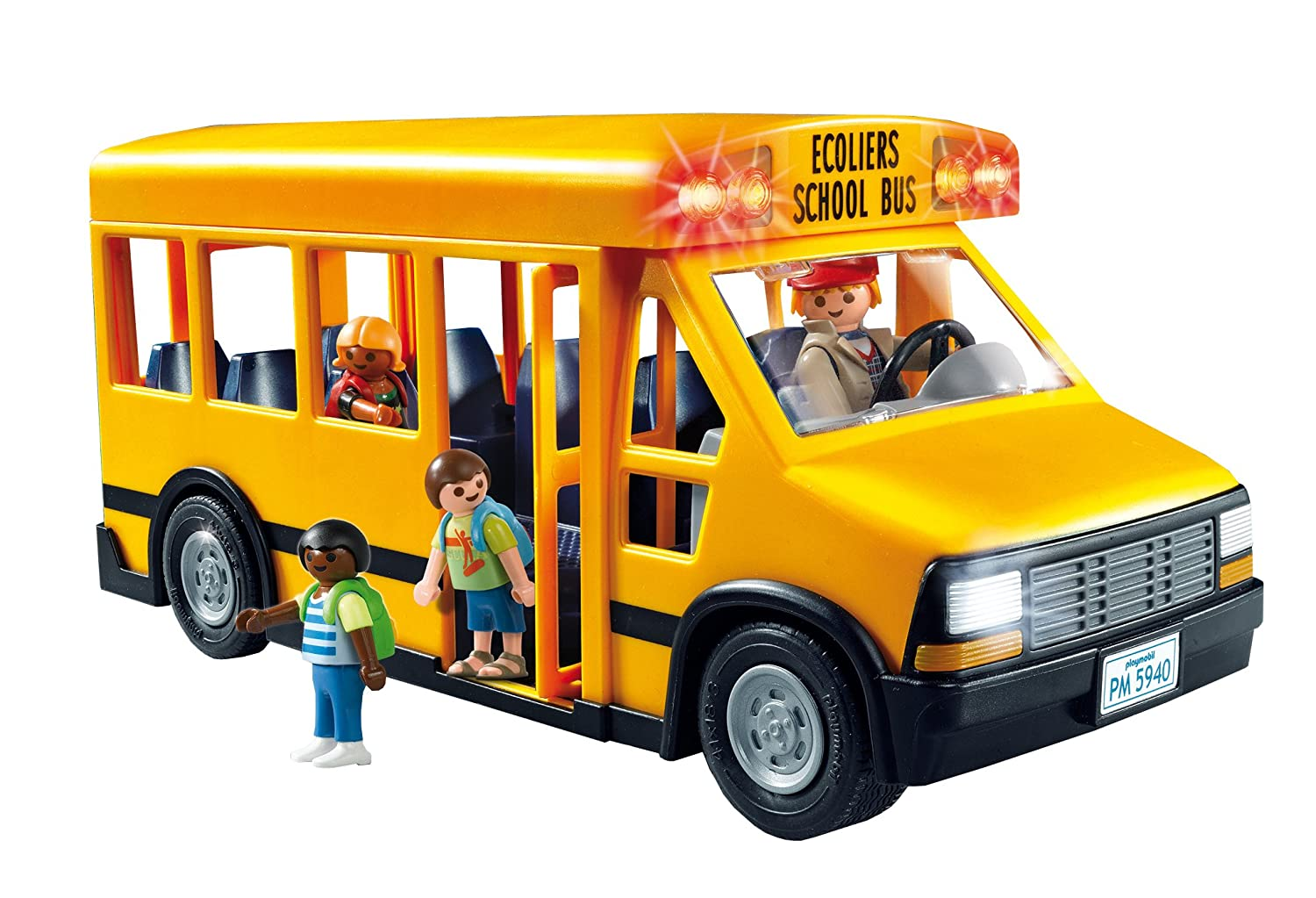 Thomas Built Buses >> Kids Pretend Play Set Toy Playmobil School Bus Car Figures ...