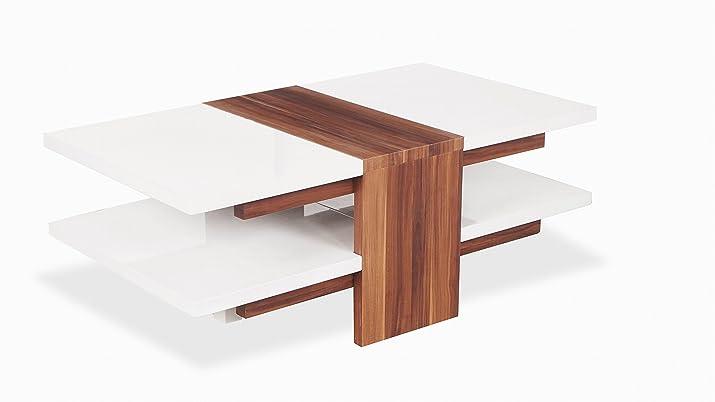 Tavolo da caffè in vetro bianco laccato nero stile moderno contemporaneo Room legno