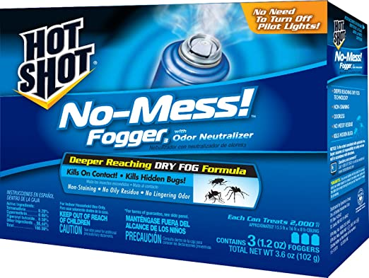 No-Mess Hot Shot bed bug and flea fogger