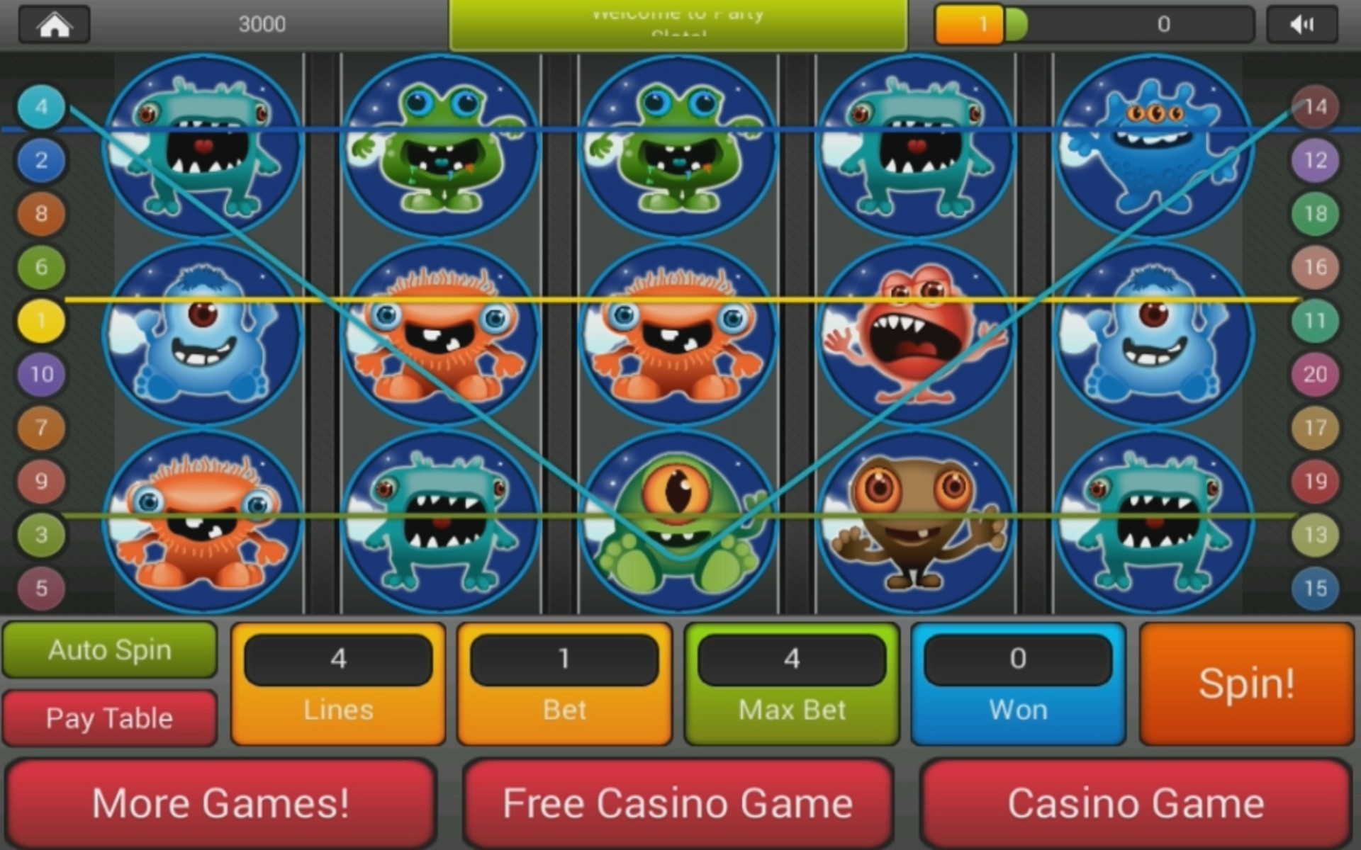 Monster Carlo II Slot - Try it Online for Free or Real Money