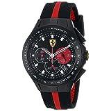 Ferrari Men's 0830023 Race Day Analog Display Quartz Black Watch (Color: Black)