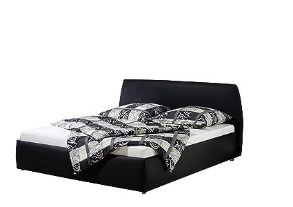 Maintal Betten 234964-4693 Polsterbett Minu 140 x 200 cm, Kunstleder schwarz