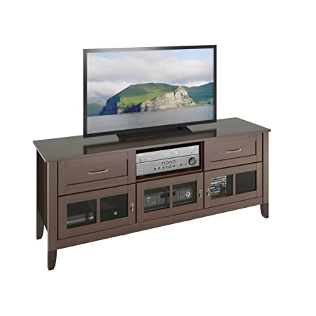 "CorLiving Carlisle Extra Wide TV Bench, Up to 70"", Espresso Brown"