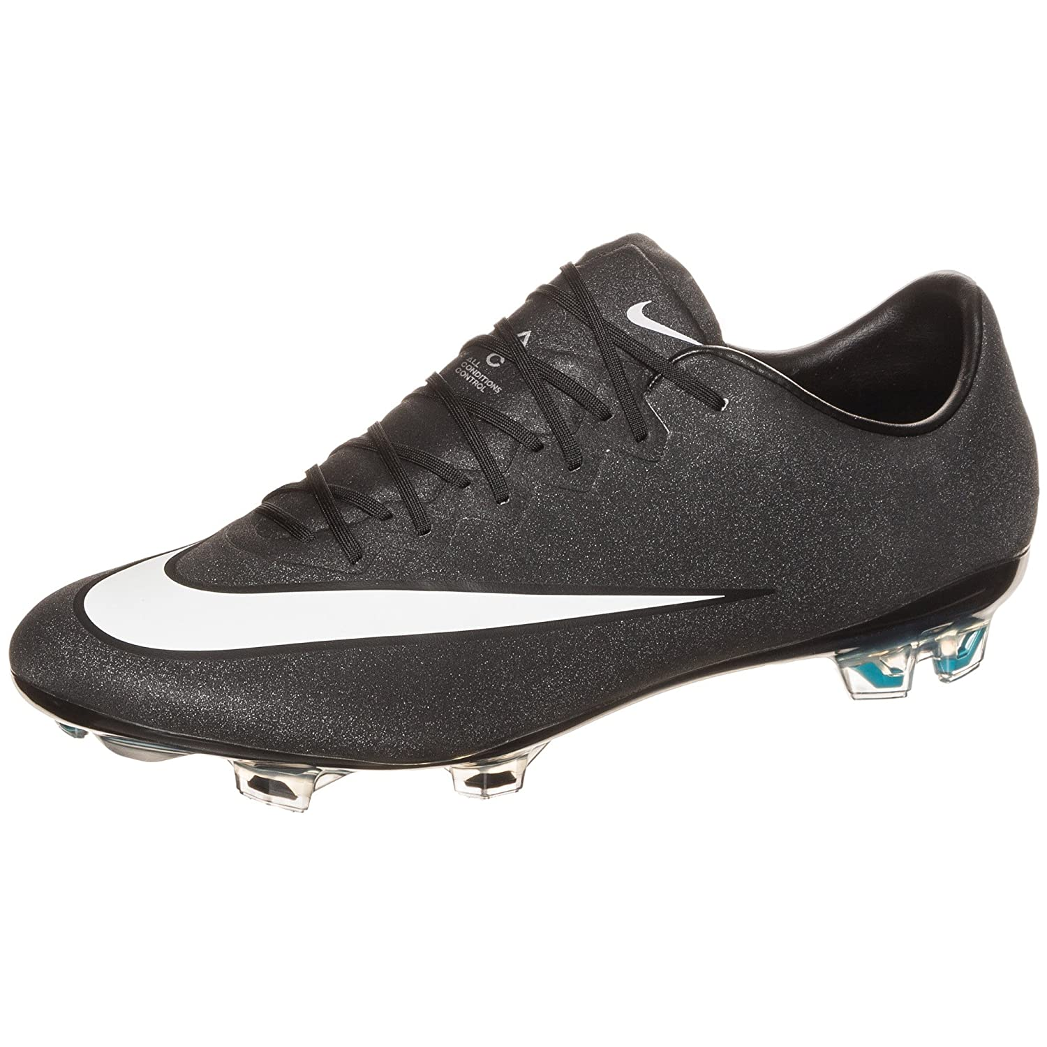 NIKE MEN'S MERCURIAL VAPOR X FG (BLACK/WHITE-NEO TURQ) бутсы nike mercurial victory iii fg 509128 800