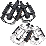 ARTHEALTH Bicycle Pedals Bike Pedals Aluminum Alloy 9/16 Inch High Performance Pedals for Bikes Mountain Bikes Road Bicycles Platform Pedals (Silver) (Color: Silver, Tamaño: Mountain Bikes Road Bicycles 9/16