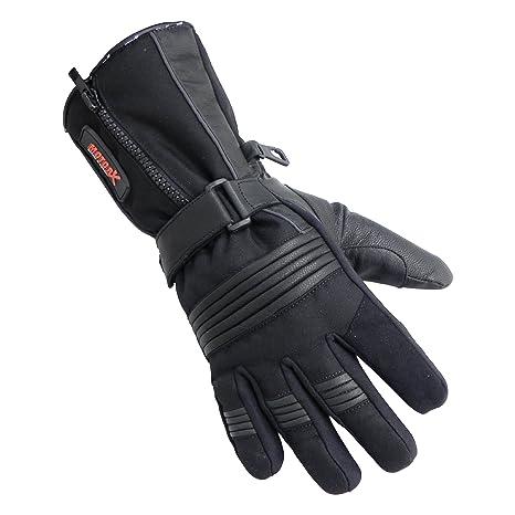Motorx hiver 4290311 Gants de moto en cuir Taille M Noir