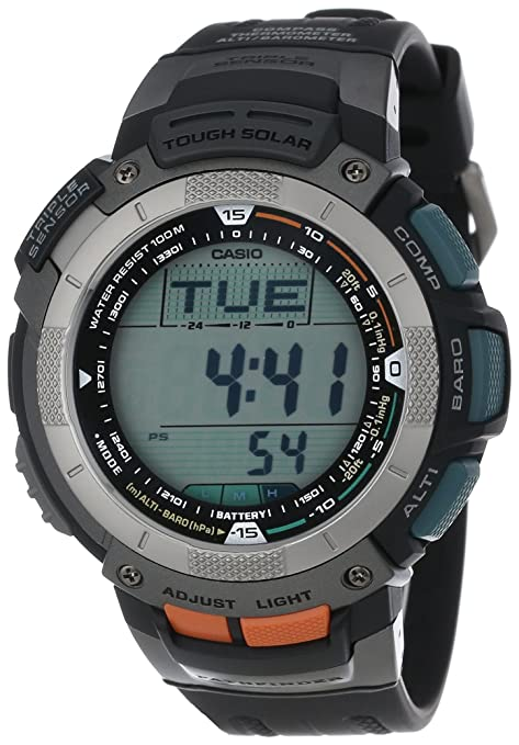 Casio Men's PAG80-1V Pathfinder Altimeter/Barometer/ Digital Compass Solar Digital Watch-奢品汇 | 海淘手表 | 腕表资讯