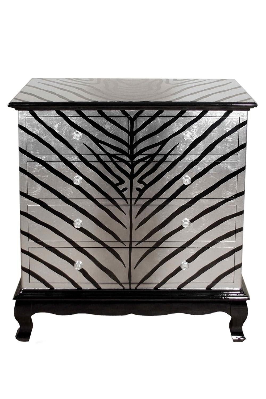 Casa Collection / Art for living by Jänig 10862 Exclusive Kommode mit 5 Schubfächern, Zebra Höhe 107 cm, Breite 95 cm und Tiefe 45 cm