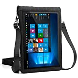 "USA Gear 12-Inch Tablet Case Neoprene Sleeve Cover w/Built-in Screen Protector & Carry Strap by X T12 Fits Galaxy Book 10.6""/Huawei MateBook 12"