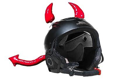 Helmet Devil Horns Crazy Ski Helmet Ears   Devil