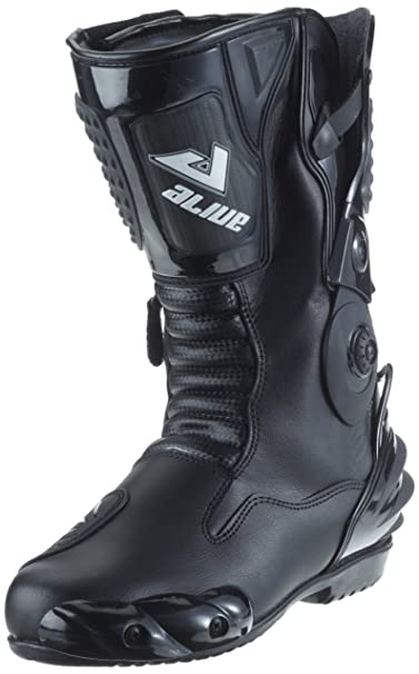Protectwear 006-47 tS-bottes de moto racing aliue, imperméable à l'eau en cuir avec poches hartschalenprotektoren