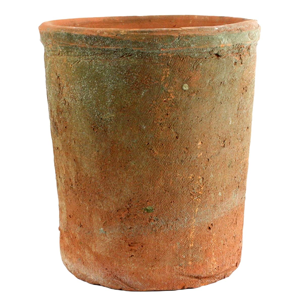 Rustic Terra Cotta Cylinder, Large, Natural, 1-Count