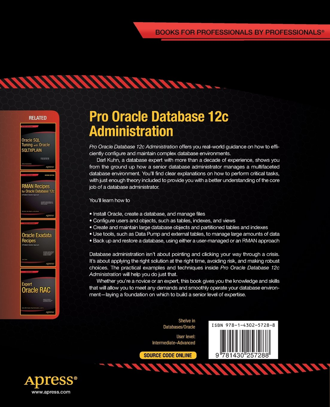Buy Pro Oracle Database 12c Administration (the Expert's Voice) Book Online  At Low Prices In India  Pro Oracle Database 12c Administration (the  Expert's