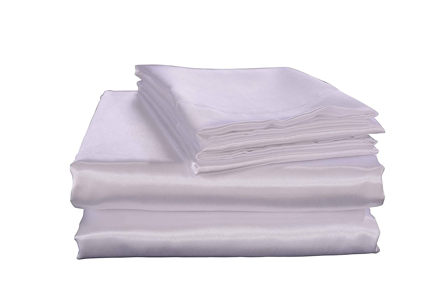 4pc Bedding Sheet Set Deep Pocket Super Soft Solid Satin