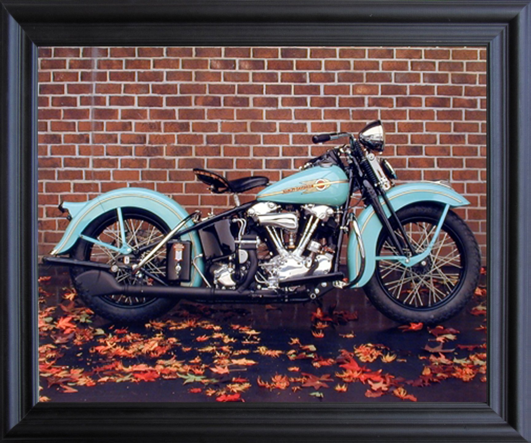 1938 Aqua Harley Davidson Ron Kimball Vintage Motorcycle