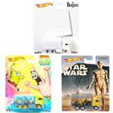 Triple Truck Mayhem Hot Wheels Pop Culture Hiway Haulers Beatles White Album / Star Wars Ralph McQuarrie & Spongebob Squarepants Special Bundle