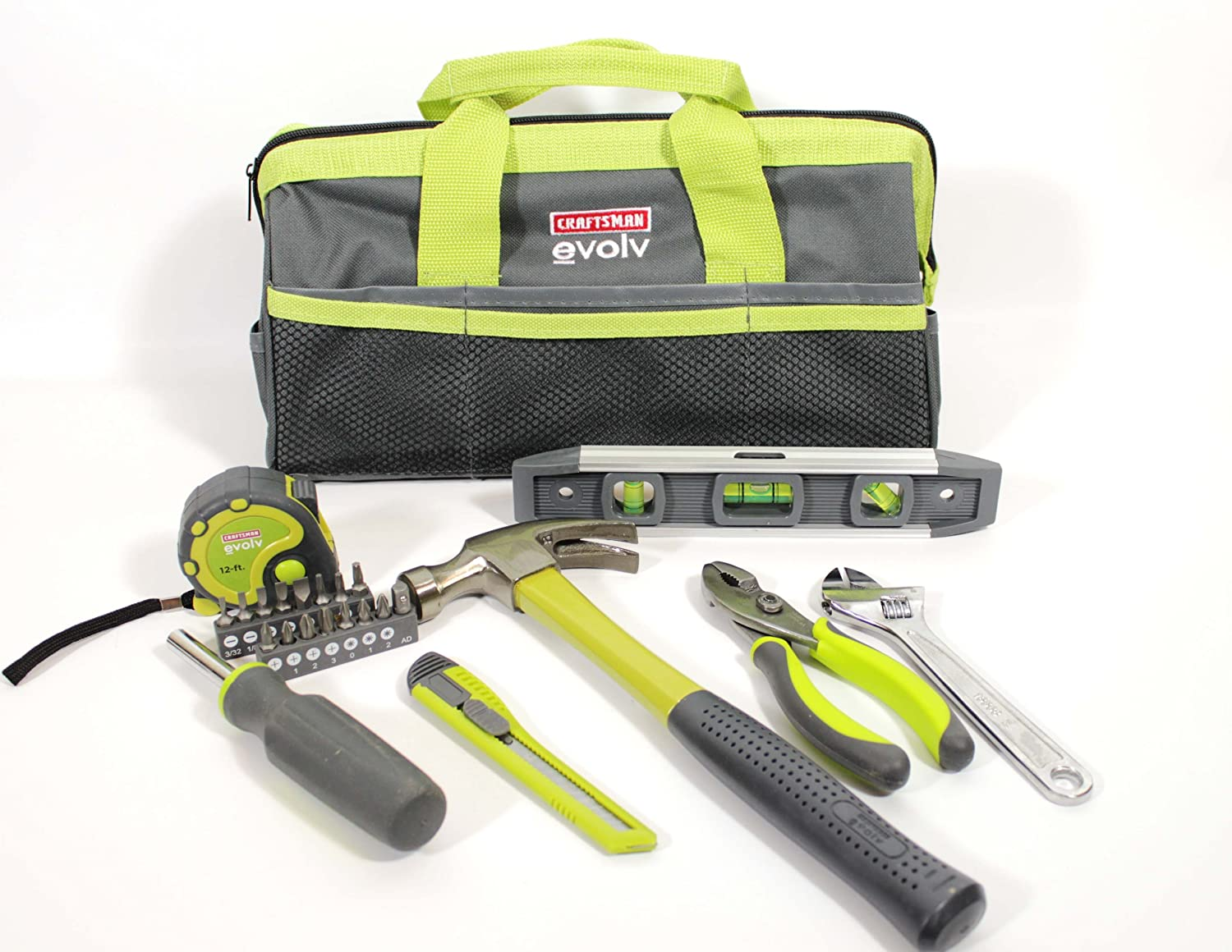 Repair household tools kit set bag storage hand tool 23 piece home hammer wrench ebay - Household tools ...