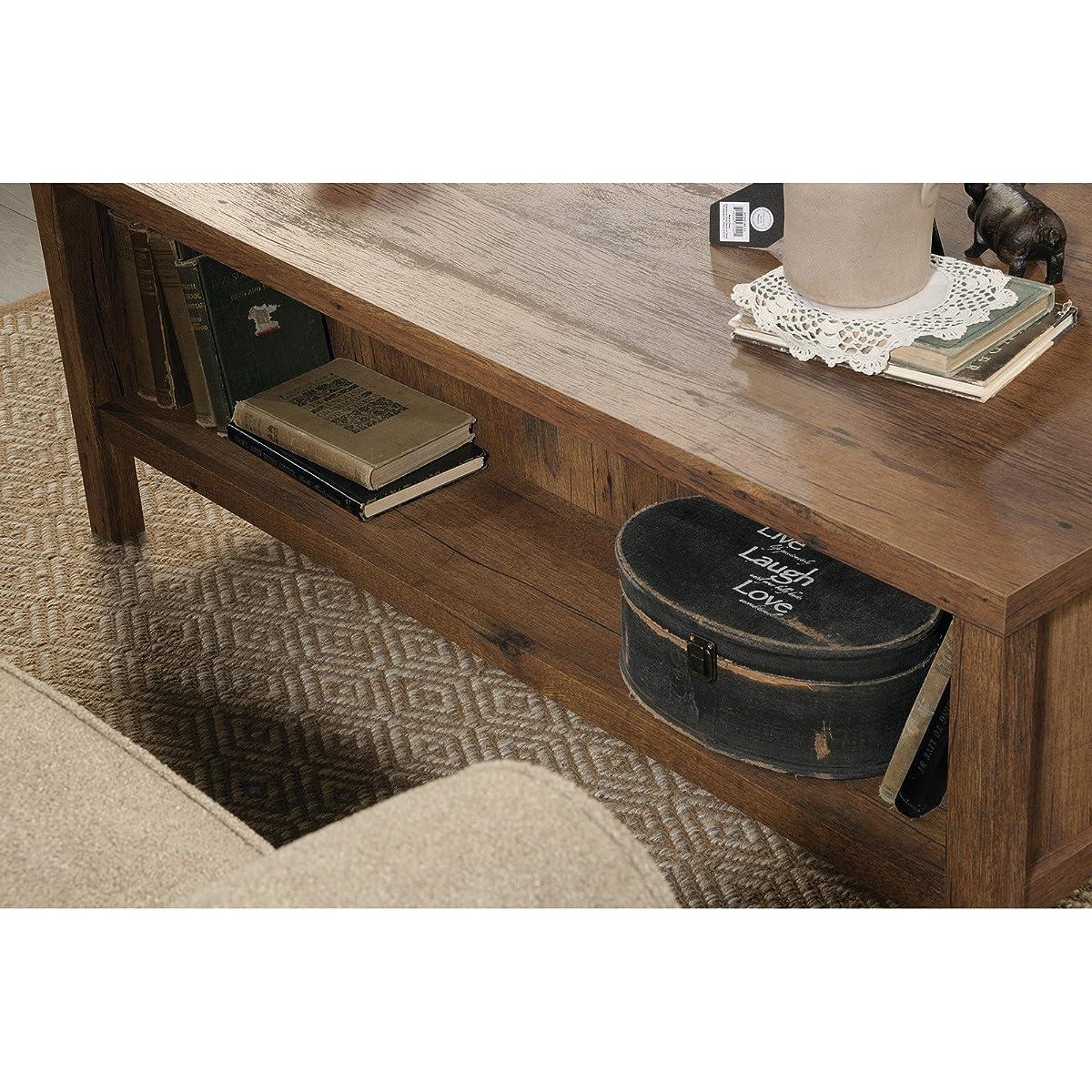 Sauder New Grange Storage Coffee Table in Vintage Oak