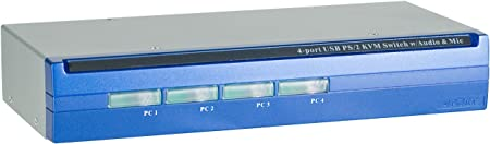 Dexlan Switch KVM 4 ports combo VGA USB/PS2 + Audio