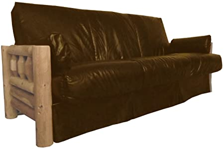 Epic Furnishings Yellowstone Perfect Sit and Sleep Lodge Style Pillow Top Sofa Sleeper Bed, Queen, Leather Look Brown