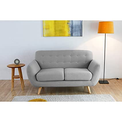 El Folke: sofá escandinava 2plazas Gris claro