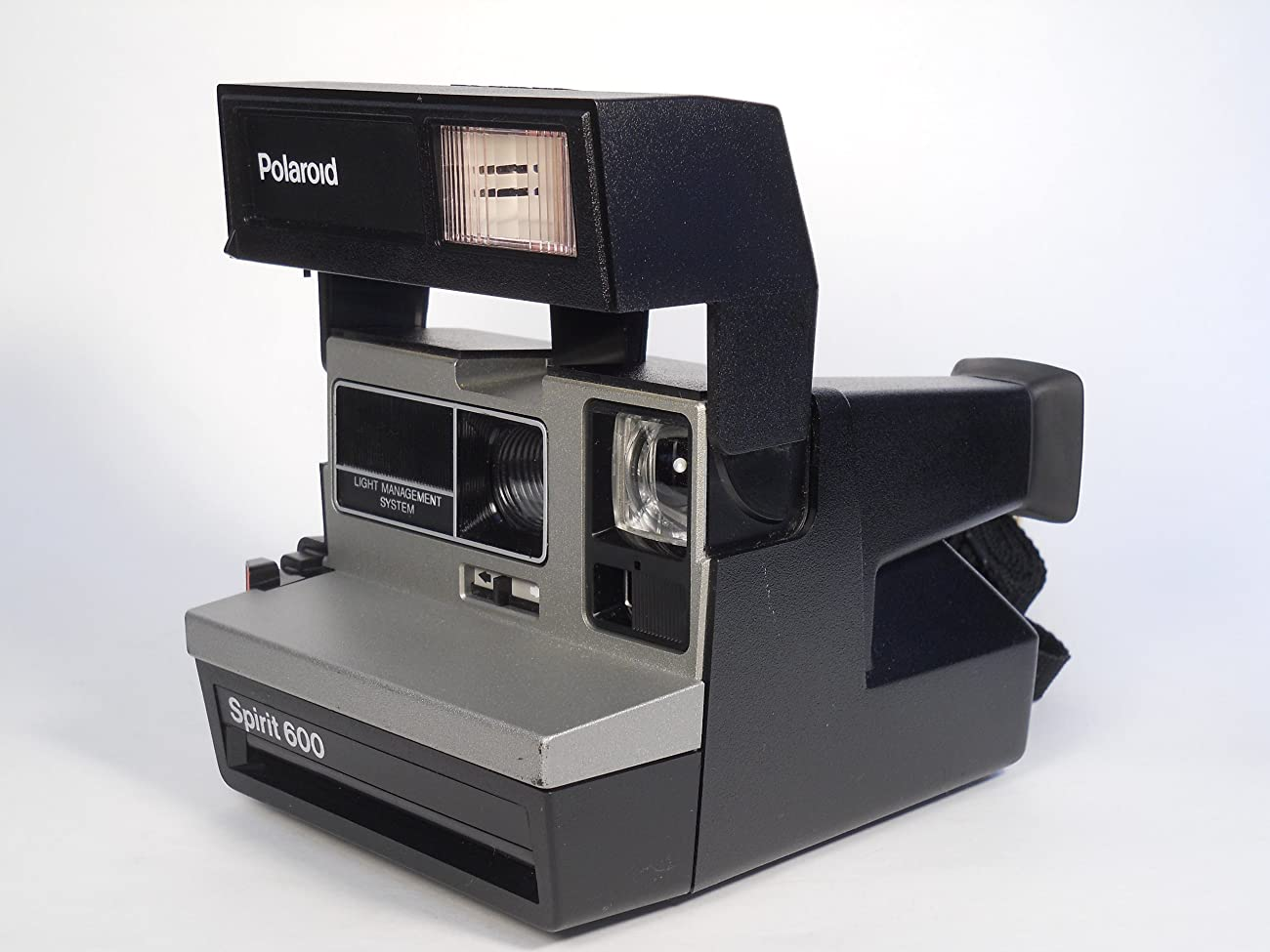 Polaroid Spirit 600 Vintage Instant Camera w/ Silver/Gray Front 2