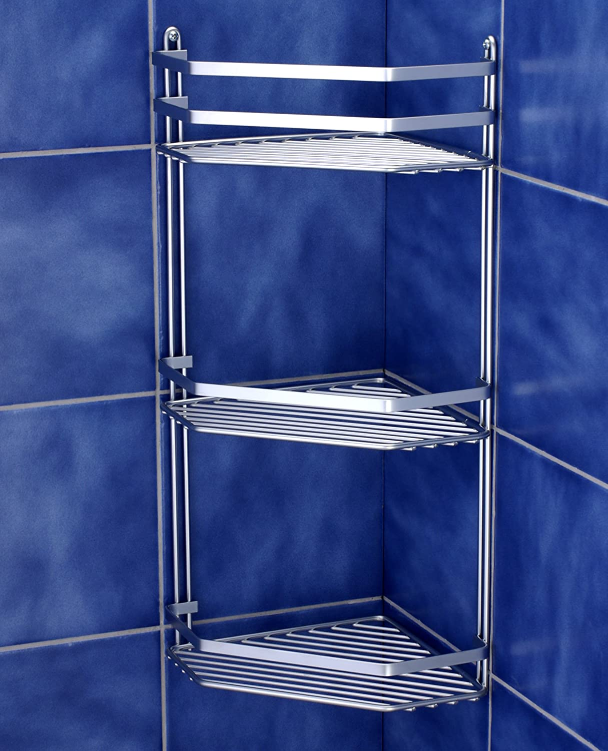 3 Tier Shower Bathroom Corner Storage Corner Shelves Shelf ...