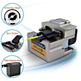 SPEEDWOLF FTTH High Precision Fiber Optic Cleaver 250µm-900µm fiber optic cutter tool for fiber splicing with 16 Surface Blade,48,000 Cleaves,3in1 holder and Optic fiber scrap collector(OP-OFC21) (Color: OP-OFC21, Tamaño: 74*70*11mm/2.91*2.6*0.43inch)